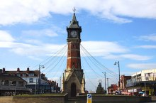 Skegness, The clock tower in Skegness, Lincolnshire © Steve Daniels